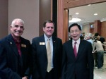 (L to R) Rich Rogel, Steve Grafton and Dr. Paul W.T. Poon PhD82