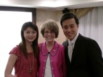 President Coleman offered her best wishes to Sheng and his future wife, Lily